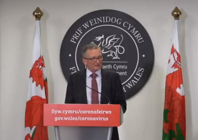Dr Frank Atherton, Wales' chief medical officer. Image: Welsh Government/Twitter