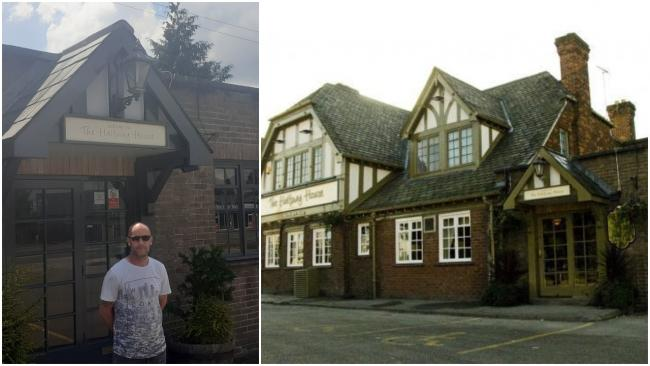 Shaun Ketley (left) owner of the Halfway House pub (right) in Connah's Quay.