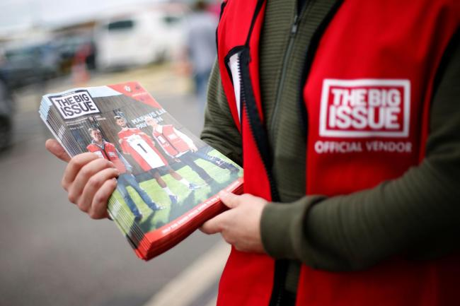 [File photo dated 12/08/17] Vendors selling The Big Issue magazine are being given PPE and contactless card machines when they return to the streets next week as they resume selling the magazine in England, Wales and Scotland from July 6.