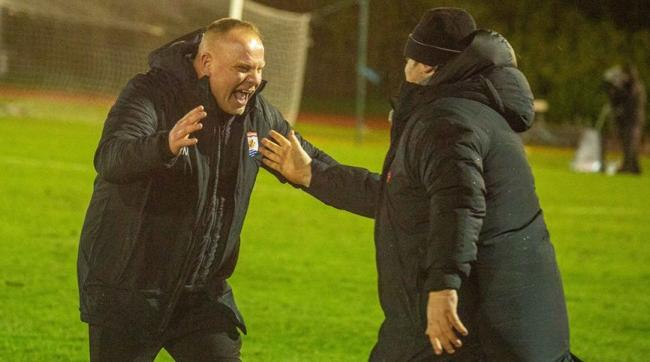 READY FOR THE CHAMPIONS LEAGUE: Andy Morrison with assistant Craig Harrison. Picture: NCM MEDIA