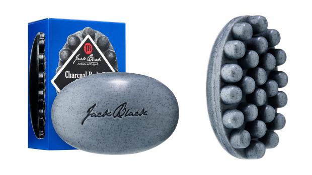 The Leader: Exfoliate your body with the Jack Black Charcoal Body Bar Massaging Soap. Credit: Jack Black