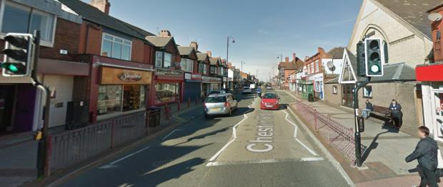 The Leader: Traffic lights on Chester Road West in Shotton where the incident occurred. (Source - Google)