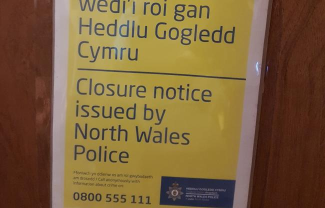 Closure order in place at St Mary's Mews, Mold.