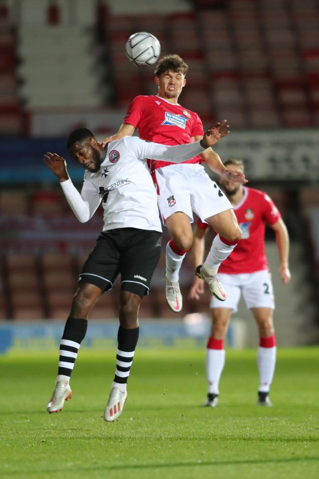 Jordan Davies in action for Wrexham against Maidenhead