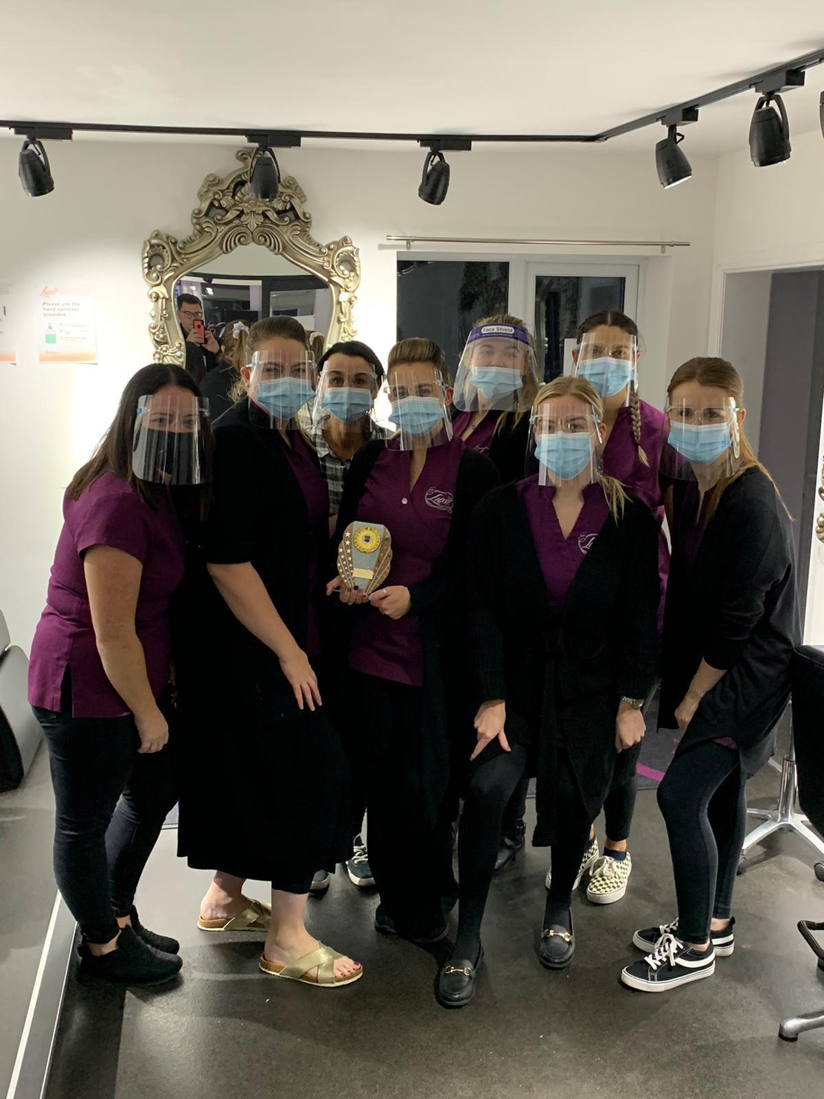 Luxe Salon in Buckley celebrates winning Hair Salon of the year award 2020