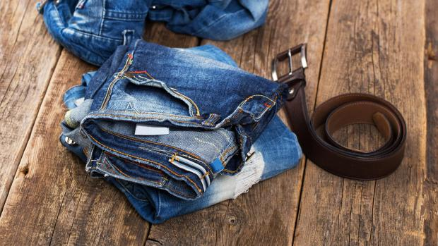 The Leader: A good pair of jeans doesn't need to be washed very often, but if they start to smell or feel loose and slouchy, it might be time to clean them. Credit: Getty Images / kozyrskyi