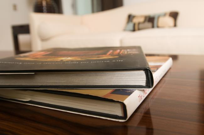 Enjoy some lighter reading with coffee table books.