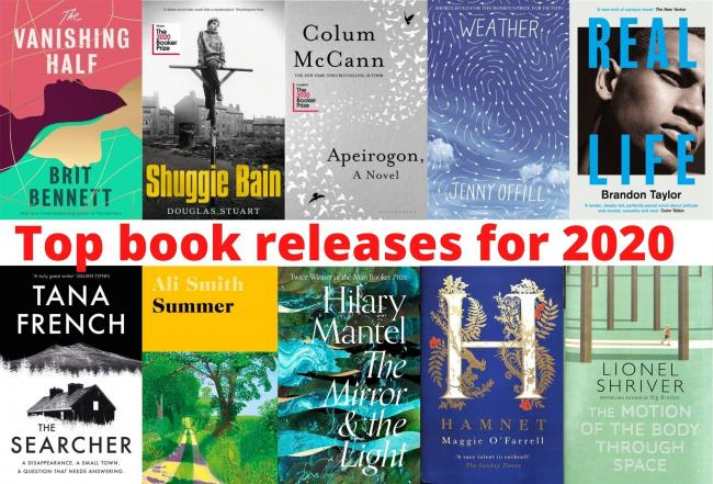 Aura Library rank the book releases of 2020