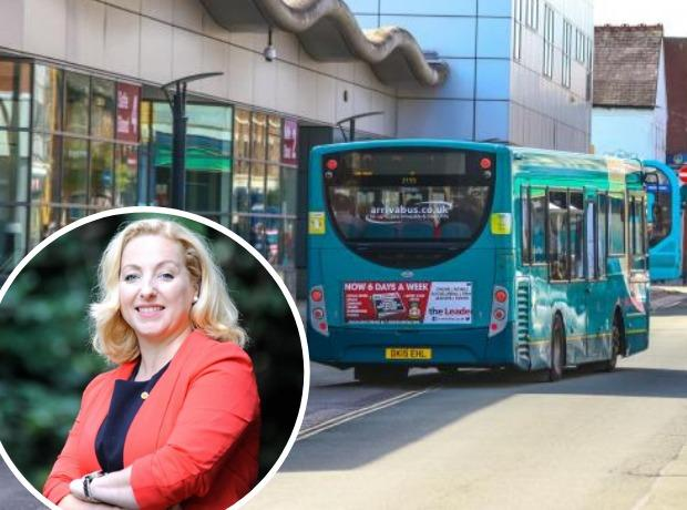 Cllr Carrie Harper has called for services to the Industrial Estate and Maelor Hospital to be maintained following the Arriva 'outbreak'
