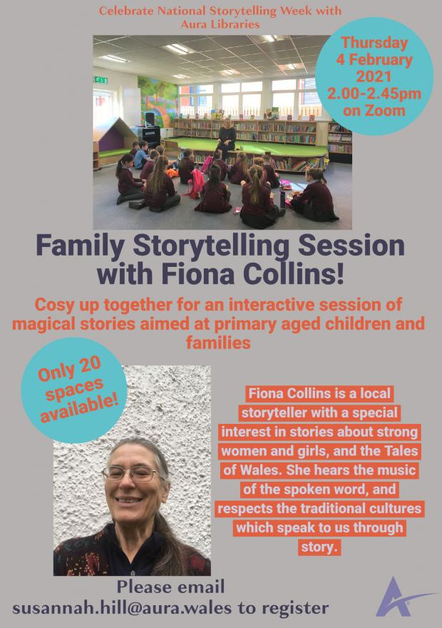 The Leader: National Storytelling Week event with Aura Libraries