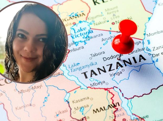 Catherine O'Farrell, 26, from Flintshire, is one of thousands of people who have been mapping parts of Tanzania from their homes during the pandemic.