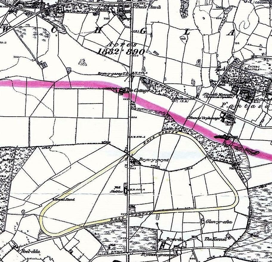 20th century map of Holywell racecourse.