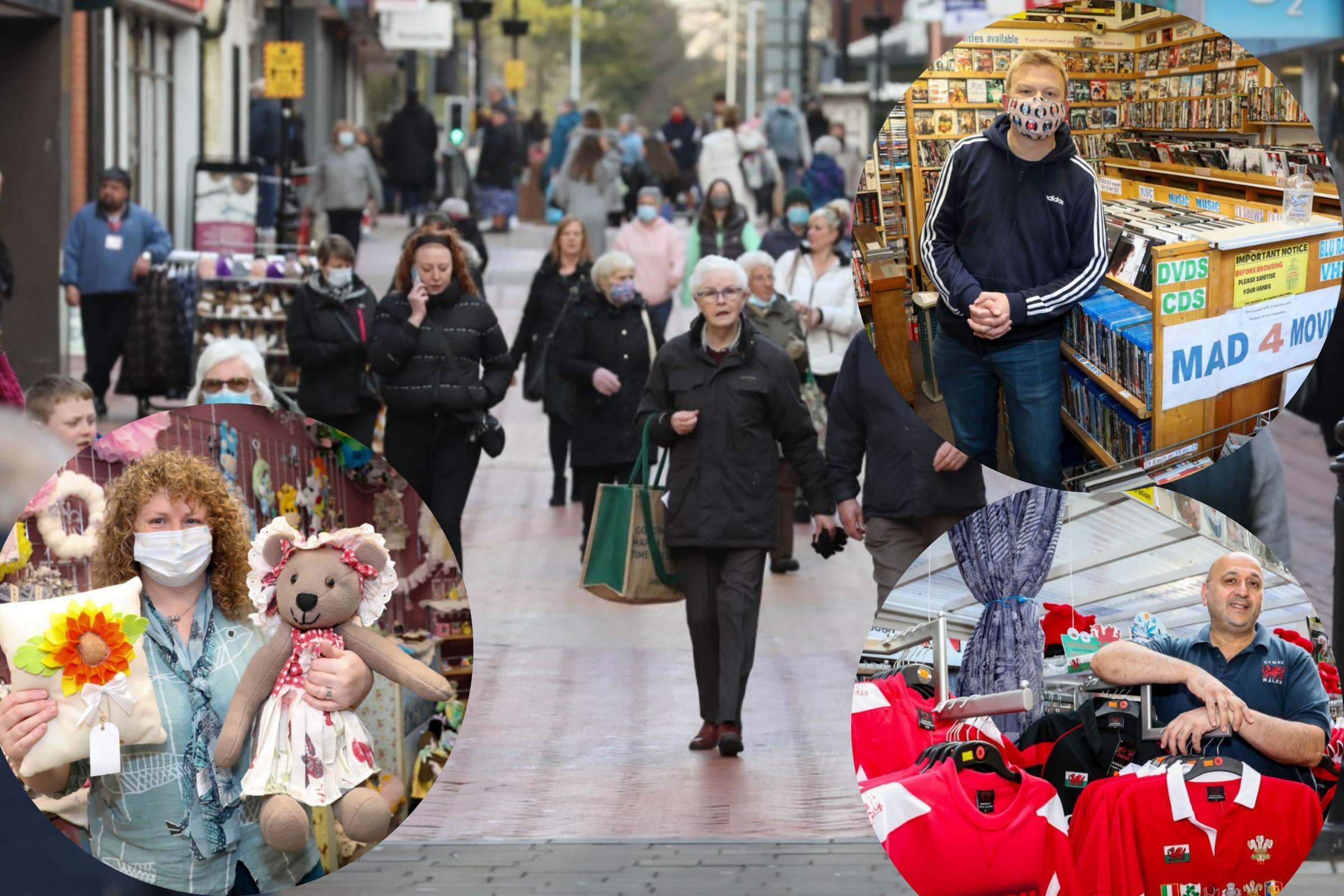 Back open for business! Shops in Wrexham reopen their doors
