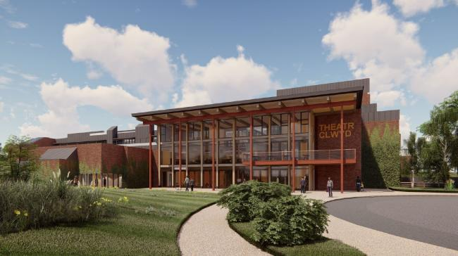 Artist impression of plans at Theatr Clwyd, Mold. Picture: Howarth Tompkins