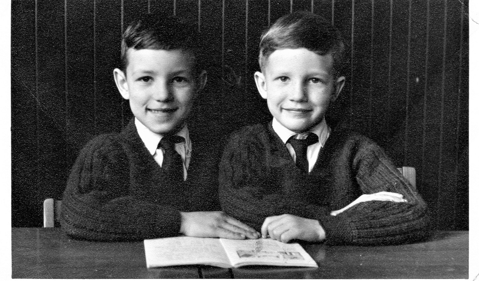 David Kelly and brother Steve, All Saints Primary, Gresford around 1962.