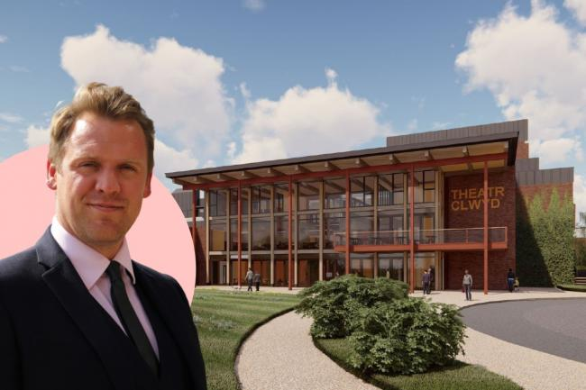 Liam Evans-Ford, pictured, speaks about the future of the theatre industry and what's happening with the redevelopment at Mold's Theatr Clwyd. [Main Image: Concept Design by Howarth Tompkins]