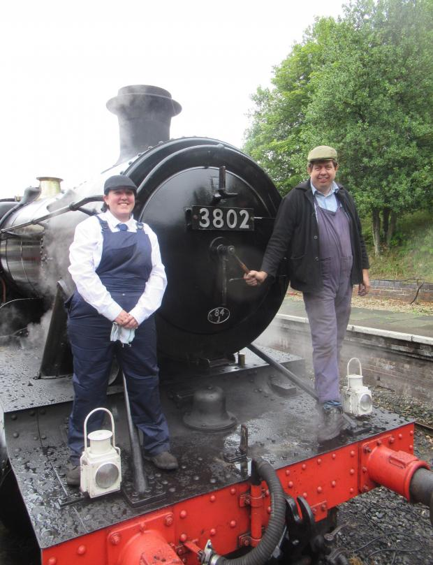 The Chief: The Great Western Railway Heavy Freight Locomotive - Driver Martin Fuller and Firefighter Steph Ellwood on the Step