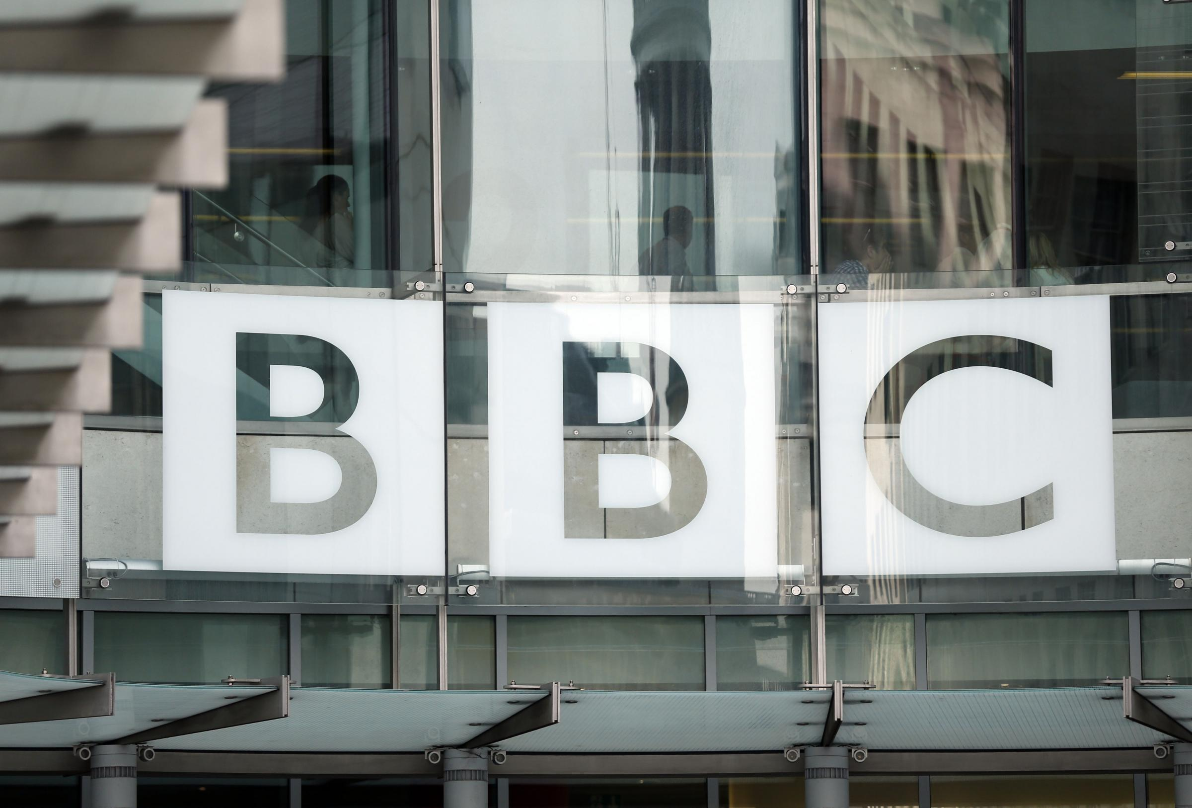 File photo dated 16/07/13 of the BBC logo at Broadcasting House in London, as the over-75s could be asked to make a voluntary contribution towards their TV licence under a BBC initiative potentially fronted by stars of pensionable age. PRESS ASSOCIATION P