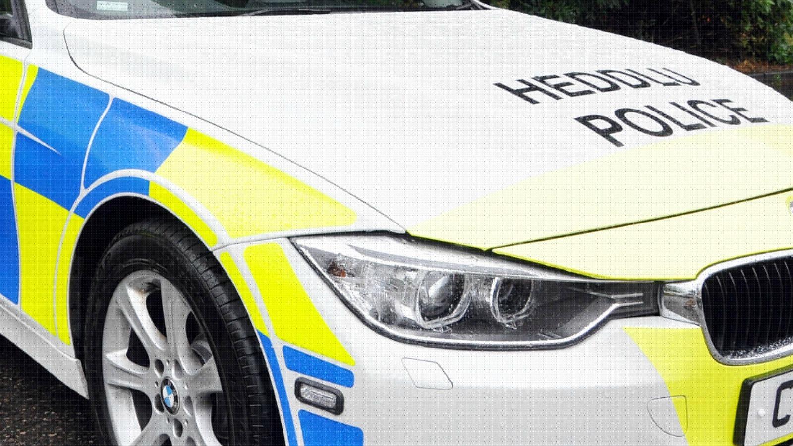 Car overturned near Northop Hall