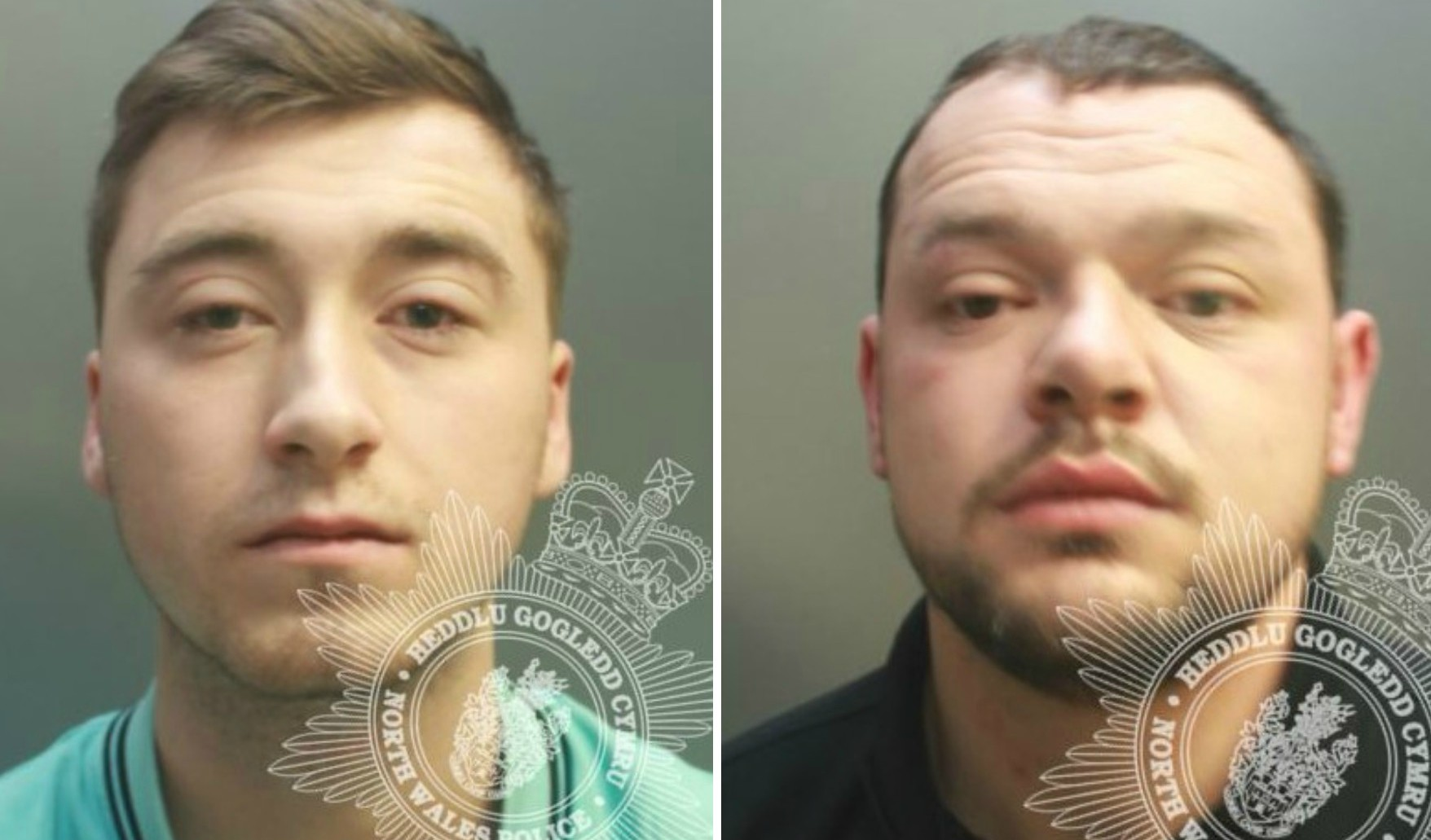 Jailed: Joshua Roberts and Darren Thomas. Images: North Wales Police