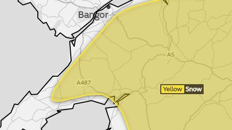 Risk of snow tomorrow. Picture: Met Office