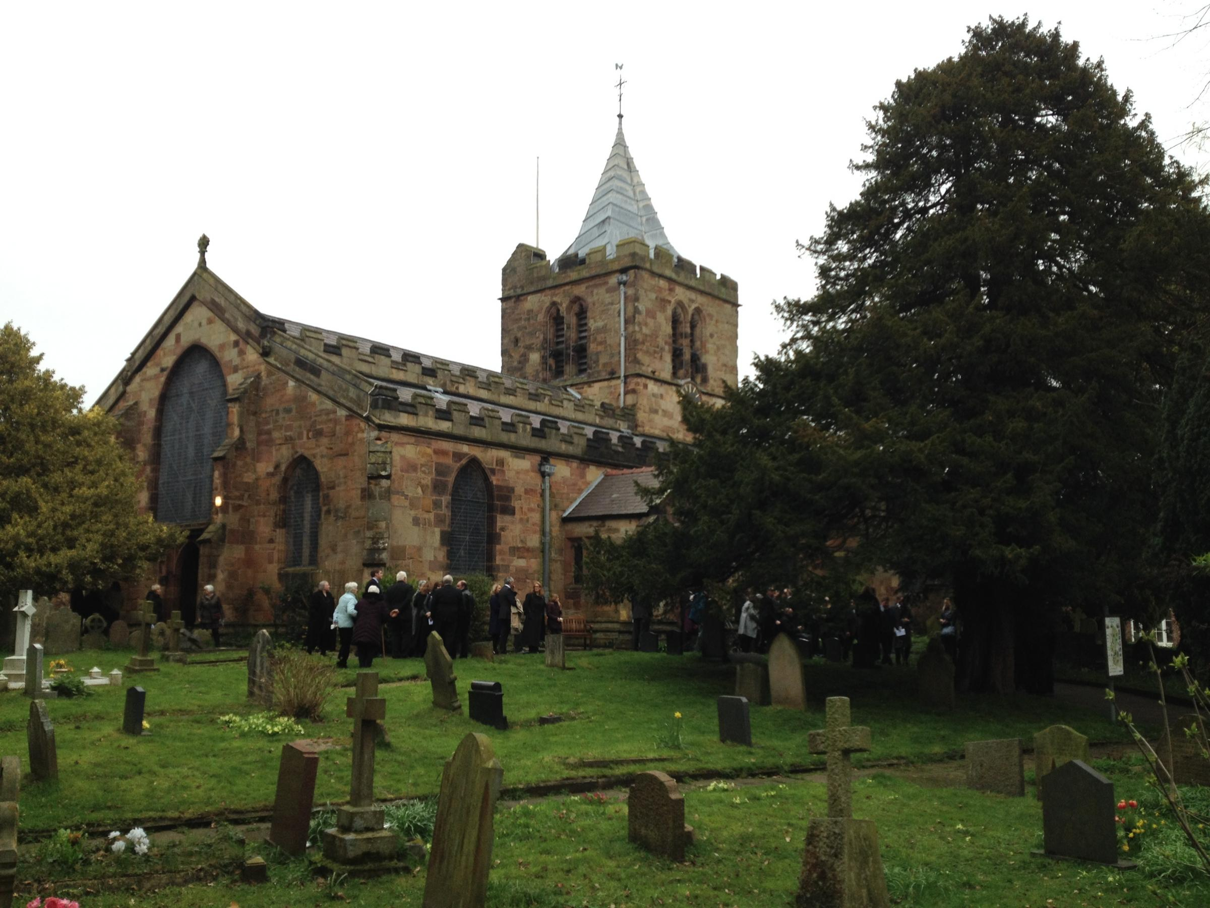 Mourners at the funeral of Sir William Gladstone