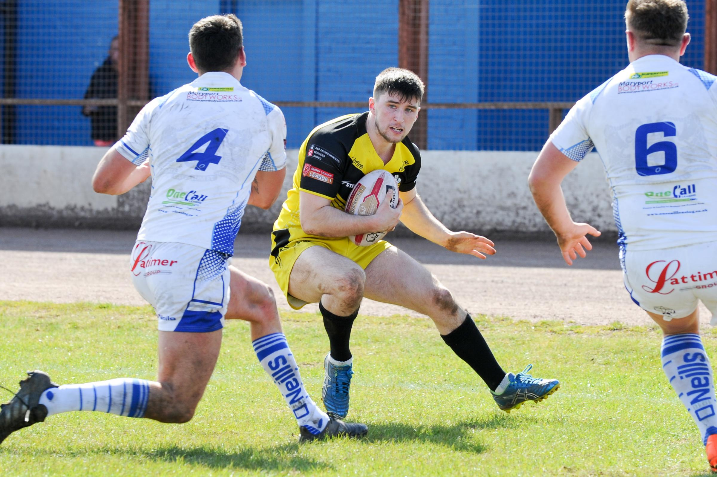 Jack Houghton in action for North Wales Crusaders a Workington Photo: Richard Long