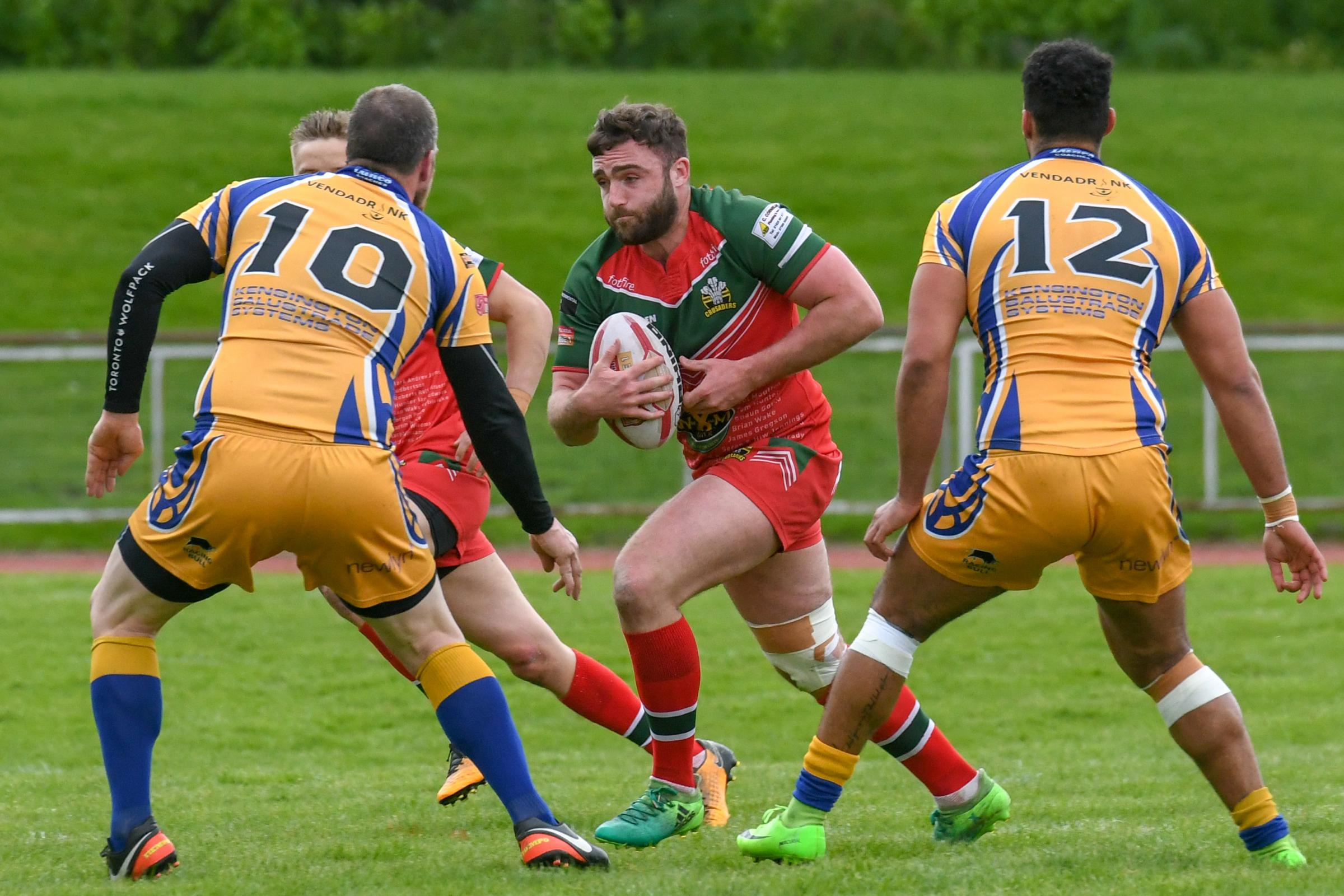 North wales Crusaders in action against Hemel Stags.