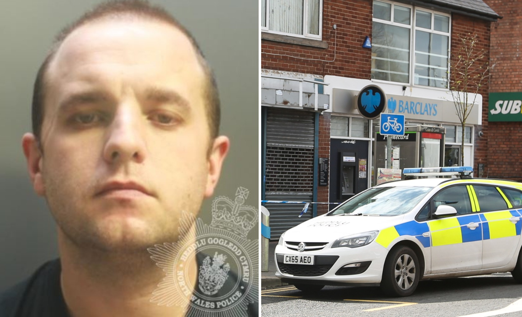 Joseph John Hennigan was jailed for the robbery of Barclays Bank in Queensferry