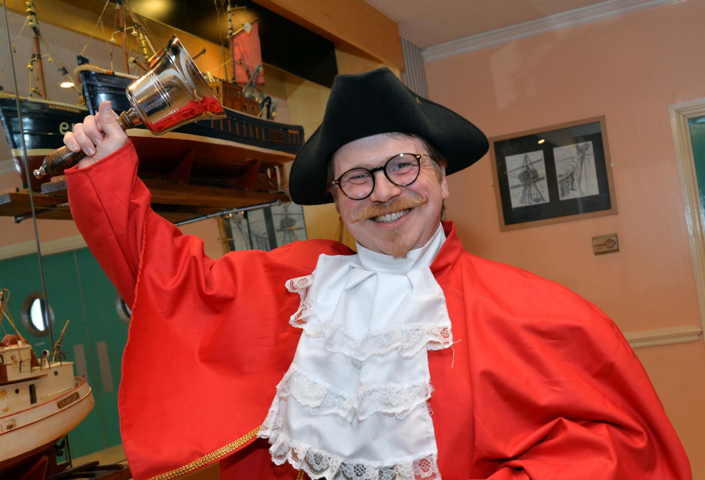 Chris Baglin is the only town crier in Flintshire