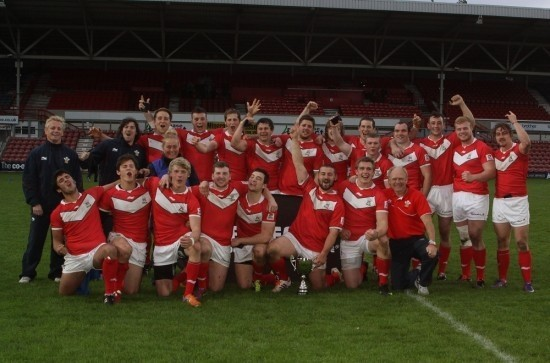 The Wales Student squad that triumphed in the 2011 Home Nations tournament