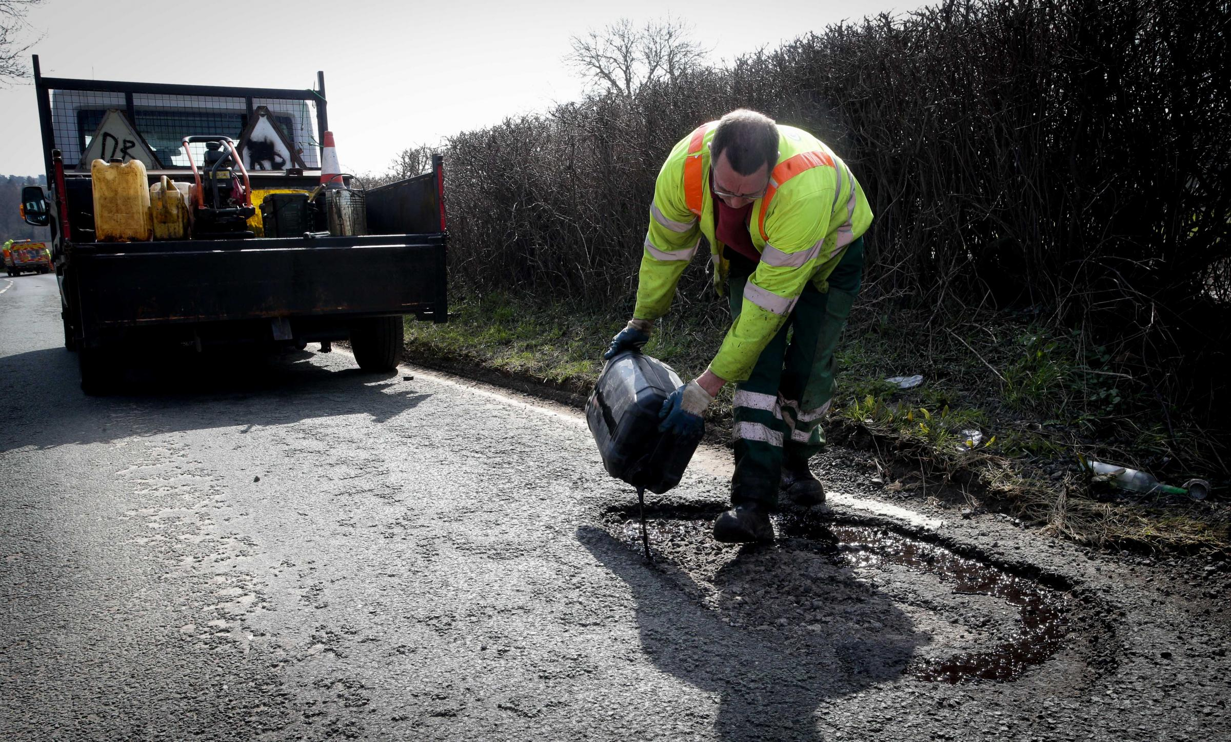 Poor weather conditions over the winter has made the pothole situation worse than normal