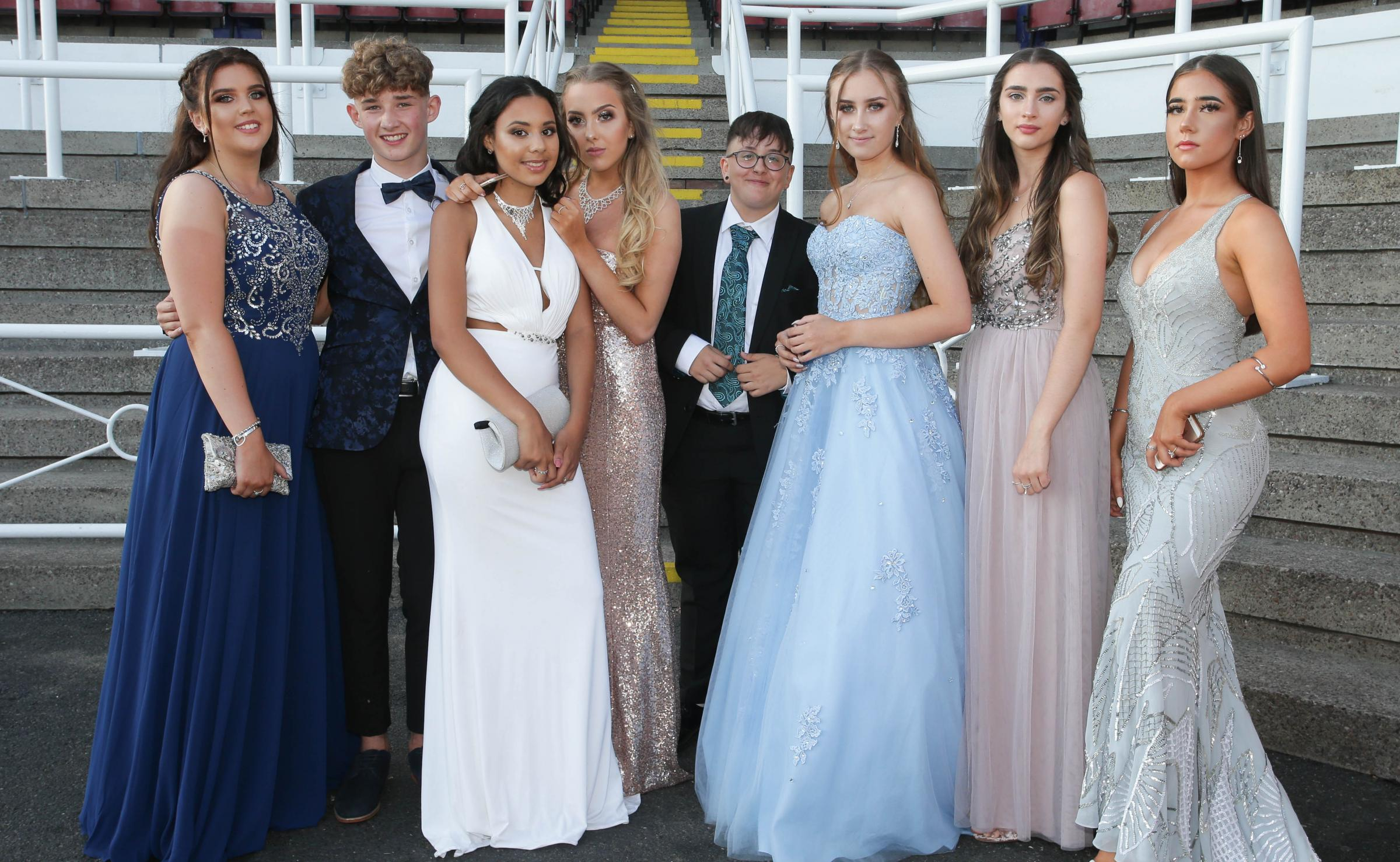 RM050718H.Chester Racecourse.Hawarden High school prom.