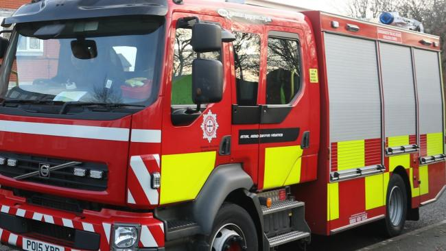 Fire crews battle car fire overnight