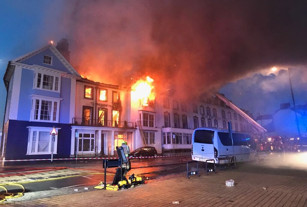 A huge blaze ripped through the Ty Belgrave House in the early hours of July 25
