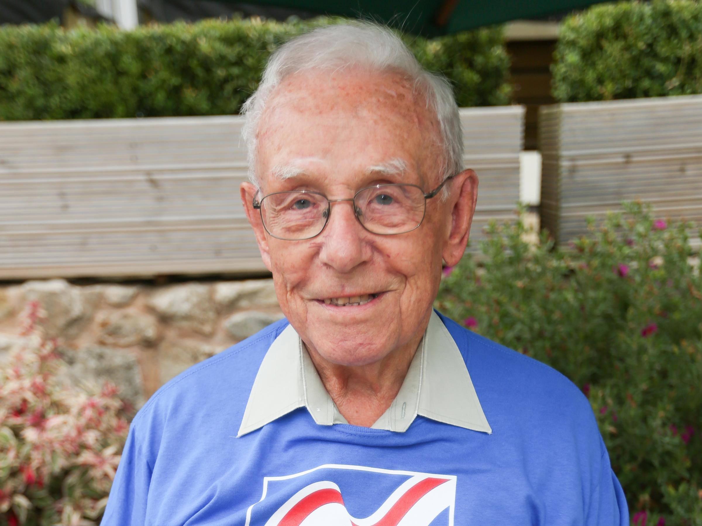 Norman Smith, 94, is planning a sky dive to raise money for Blind Veterans. Pic: Norman Smith. GA170718V.