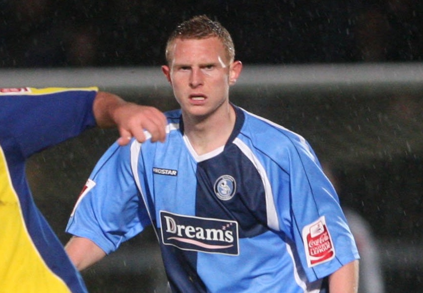 Stuart Beavon during his time with Wycombe earlier in his career