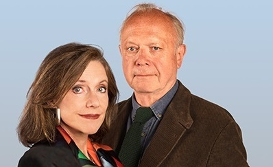 Belinda Lang and Jonathan Coy in Duet For One at Theatr Clwyd