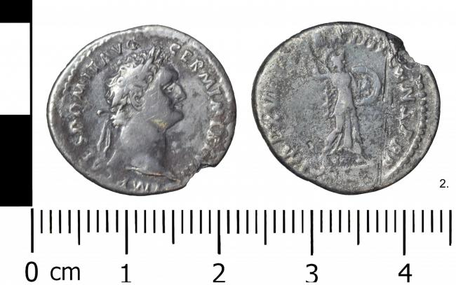 A Domitian coin, dating to 88AD, which was discovered in October last year on farmland in Cockshutt
