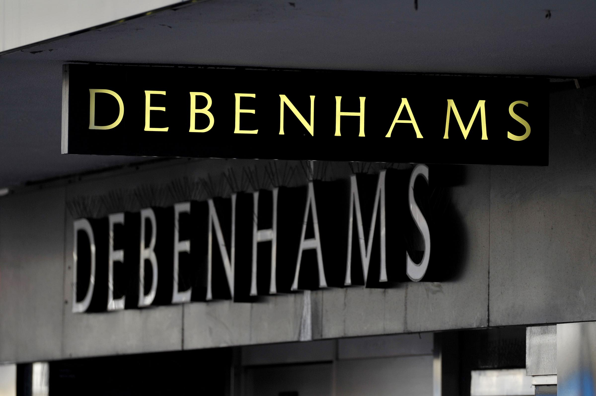 Debenhams sign
