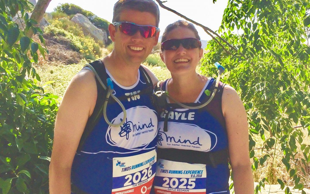 Tim and Gayle Redman, 42, of Flint set themselves the challenge to raise money for MIND.