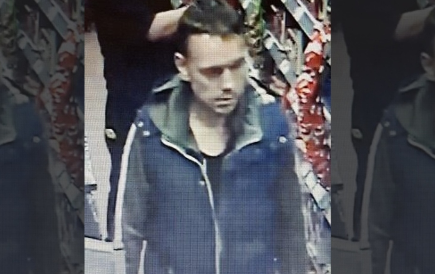 The suspect police what to speak to in connection with a case of shoplifting and criminal damage at the Co-Op store in Leeswood