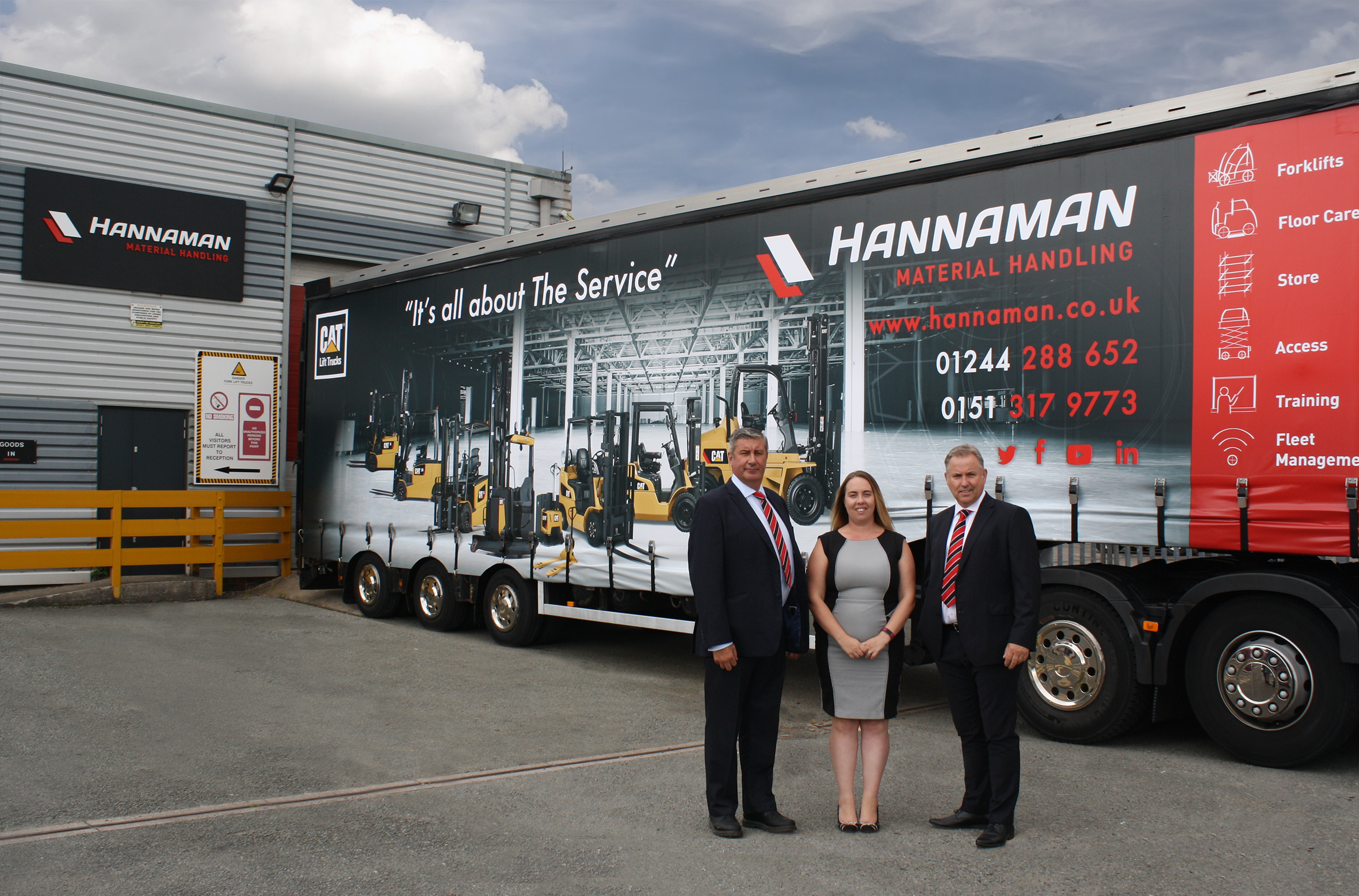 Hannaman management (from left) operations director David Brown, commercial director Stacey Downey-Jones and MD Steve Downey.