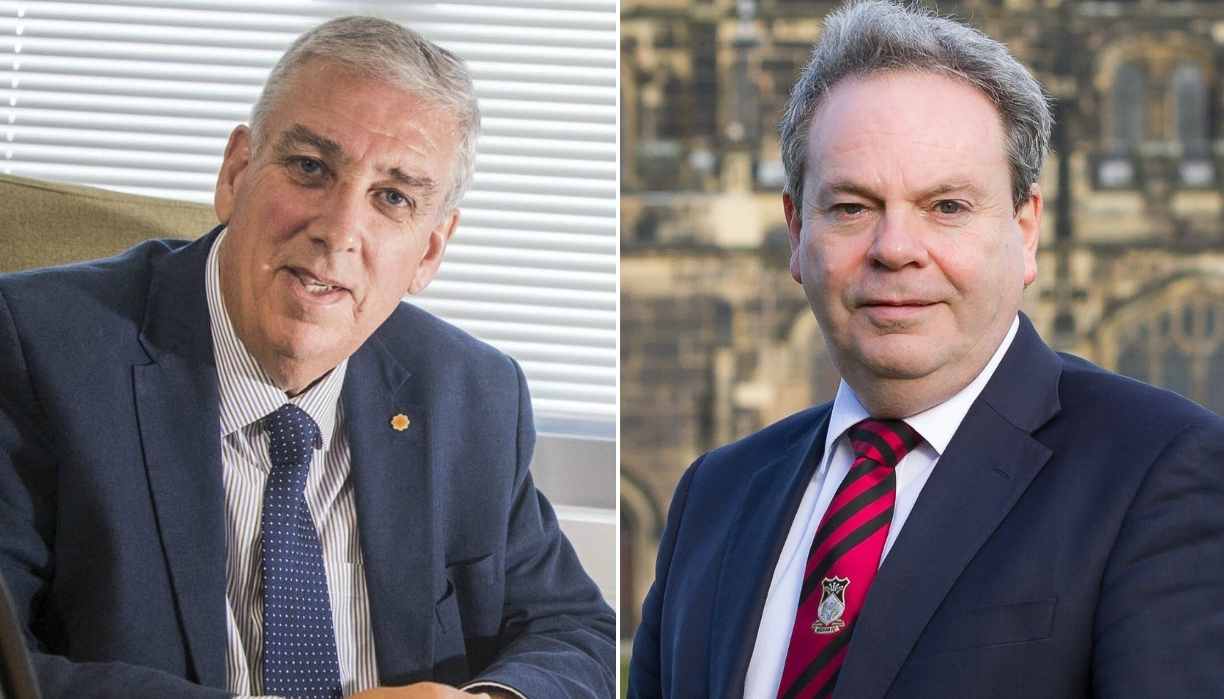 North Wales Police and Crime Commissioner Arfon Jones, left, has hit back at criticism by Wrexham MP Ian Lucas