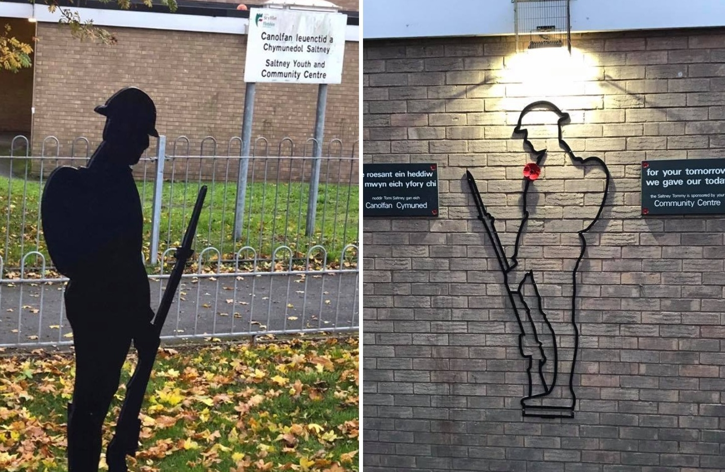 First World War 'Tommy' silhouette commemoration in Saltney surrounded in controversy