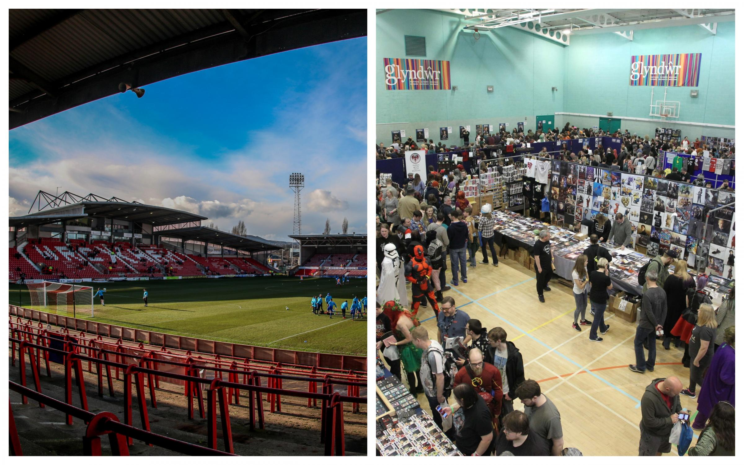 Extra police to be deployed as thousands of people expected in Wrexham for FA Cup Tie and Wales Comic Con