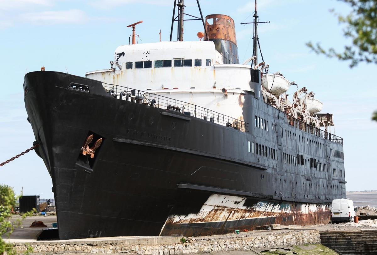 The opening of the 'Zombie Infection' onboard the Duke of Lancaster ship has been postponed due to land ownership issues.