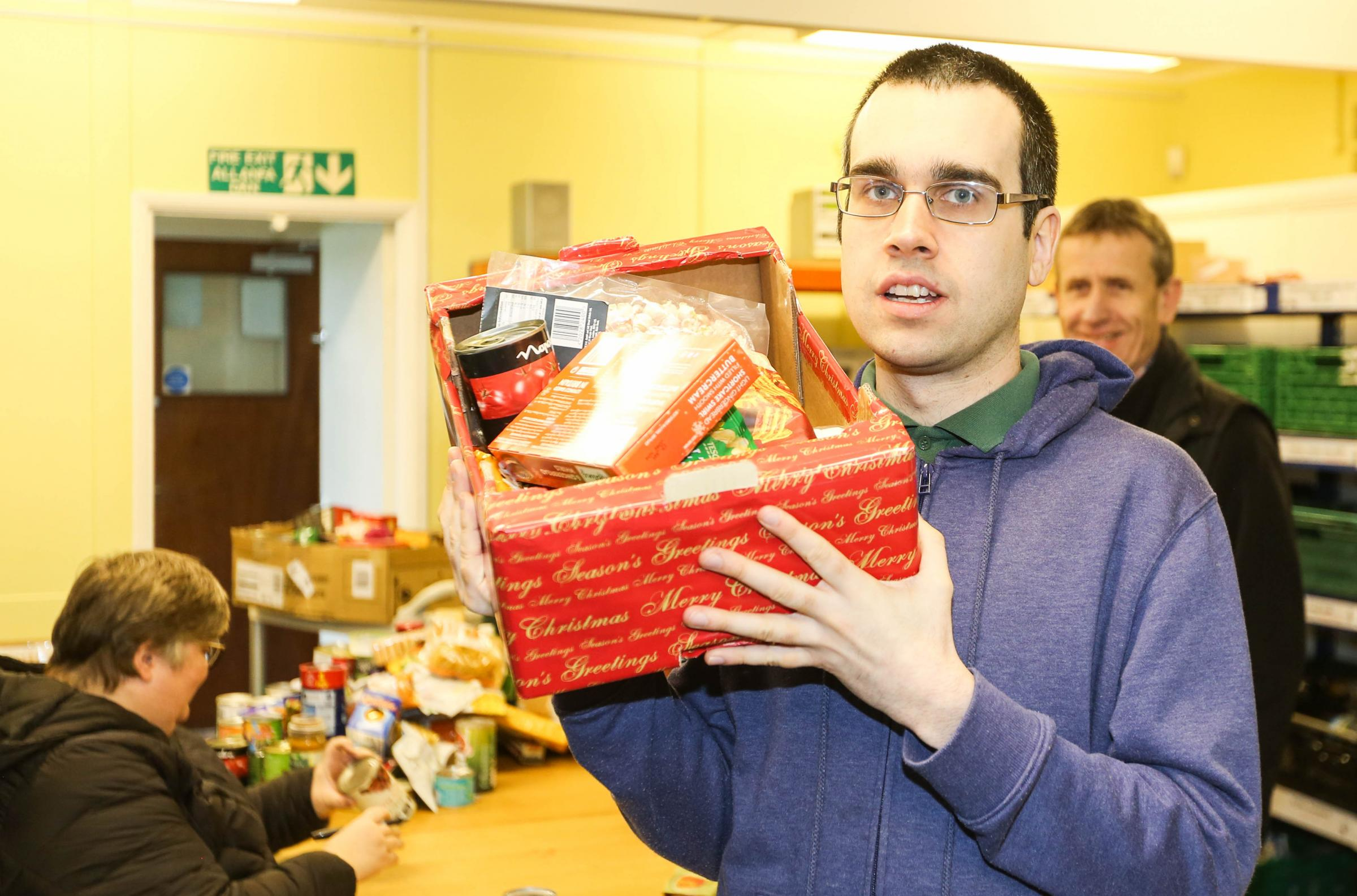 Feature about the work of the Wrexham Foodbank in Dean Road. Pic: Volunteer Adam Roberts. GA150119B.