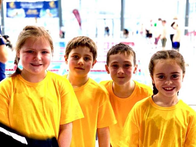 Daniel Robinson, Elin Ballinger, Jack Mullin and Carys Dent at the gala in Cardiff.