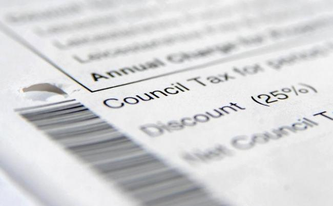 Library image of council tax letter